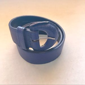 Ann Taylor Belt Blue Genuine Leather